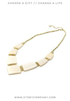 Empower artisans in India when you buy this beautiful bone necklace!