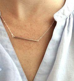 Silver Bar Necklace | $19
