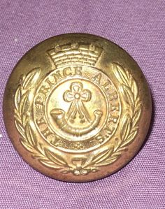 Vintage The Prince Albert's Collectible Brass Button
