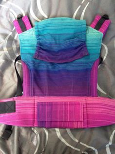 Fairy River Textiles (FRT) I Dream of Buttercream Charcoal Weft TULA BABY CARRIER