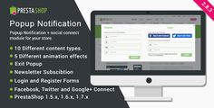 PrestaShop Popup Notification + Social Connect