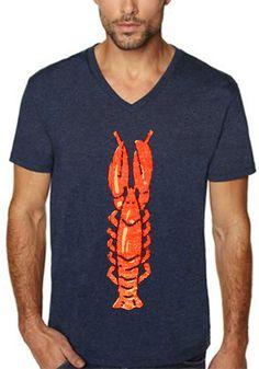 lobster shirt beach shirt vintage design by ToTheMoonAndBack