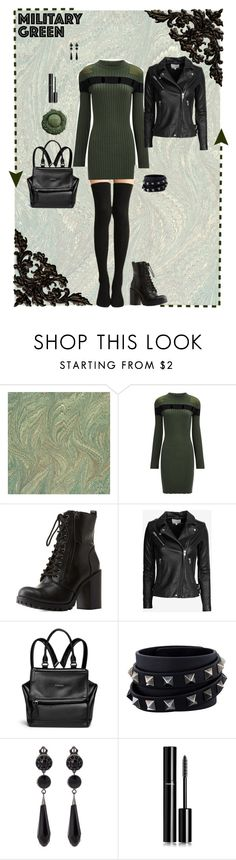 """""""Untitled #7510"""" by erinlindsay83 ❤ liked on Polyvore featuring Alexander Wang, Charlotte Russe, IRO, Givenchy, Valentino and Chanel"""