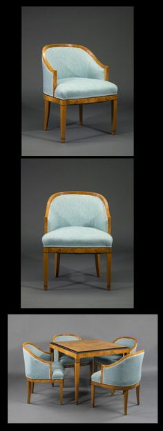 Young architect Charles #Eames designed these chairs and table for The Meyer House, which he designed in 1938 in St. Louis.  Now in the permanent collection of the St. Louis Art Museum!