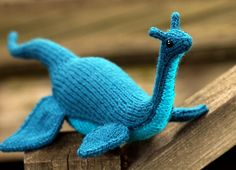 loch ness monster -- a wonderful pattern! The cats loves it as much as kiddo does. in the Knitted Amigurumi book, which is swell.