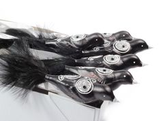 6 Czech blown glass black silver bird Christmas tree ornaments decorations Blown Glass, Christmas Tree Ornaments, Trending Outfits, Black Silver, Unique Jewelry, Jewelery, Handmade Gifts, Decorations, Bird