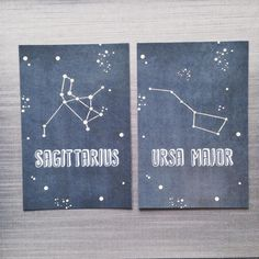 Constellation Wedding Table Numbers by LuckyToBeInLoveShop on Etsy