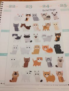 Cat Stickers (Perfect for Erin Condren Life Planner)