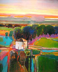 "Contemporary Painting - """"My Neighbor's House 808"""" (Original Art from MARK GOULD FINE ART)"