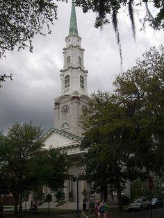 Independent Presbyterian Church 1818/1889, 207 Bull Street, Savannah. Woodrow Wilson married his first wife Ellen Axson here in 1885.