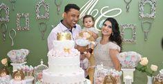 Aline Barros festeja primeiro aniversário da filha Maria Catherine