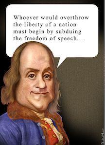 Ben Franklin on Freedom of Speech