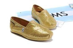 http://www.Toms.com/Womens Sequins Gold Classics Toms Shoes $23.89