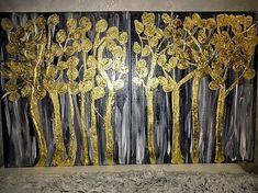 moskvaart / Obraz 100x60 - akryl + lístkové zlato Curtains, Home Decor, Blinds, Decoration Home, Room Decor, Interior Design, Draping, Home Interiors, Net Curtains