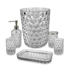 Superbe 4pc Lead Free Cut Crystal Bathroom Accessory Set (Lotion/  Soap/Toothbrush/Cup) | Bathroom Accessories Sets, Bathroom Accessories And  Crystals