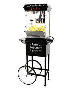 Best Kitchen Cart | Paramount 8oz Popcorn Maker Machine  Cart  New Upgraded FeatureRich 8 oz Hot Oil Popper Color Black ** Learn more by visiting the image link. Note:It is Affiliate Link to Amazon.