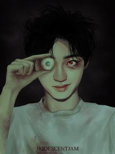 Have you ever seen Kyungsoo scarier than here ? Oh my gosh it's so creepy. ♥️  Avez vous déjà vu Kyungsoo de aussi flippant qu'ici ? Mon dieu c'est trop terrifiant !♥️