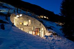 ⌂ Hobbit Homes ⌂ Products To Make Underground Living Easy - And Charming! - In The Villa Vals - Architizer Underground Living, Underground Homes, Villa, Casa Dos Hobbits, Therme Vals, Beautiful Homes, Beautiful Places, Unusual Homes, House Inside