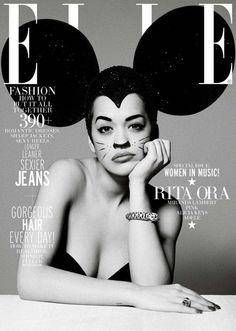 Rita Ora for Elle Magazine | Magazine Cover: Graphic Design, Typography, Photography |
