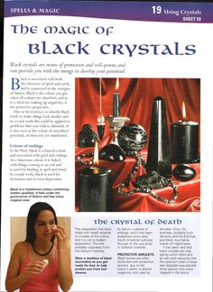 Mind, Body, Spirit Collection - The Magic Of Black Crystals Crystals Minerals, Rocks And Minerals, Crystals And Gemstones, Stones And Crystals, Gem Stones, Crystal Magic, Crystal Grid, Crystal Healing, Mind Body Spirit