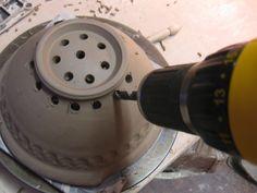 Colander holes.