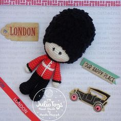Queen´s Guard crochet pattern  #soldier#amigurumi#crochet#pattern#guard#queen´s#London#   https://www.etsy.com/listing/464321494/queens-guard-pdf-pattern?ref=shop_home_active_1