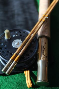 "7'9"" 2/2 5wt Hand made Schliske Bamboo Fly Rod & Hardy St. George Fly Reel"