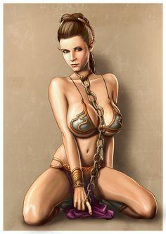 Slave Leia Pinup V2 by Dominicabra