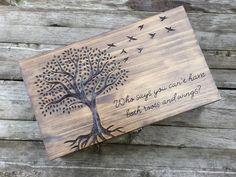 Rustic Wedding wine box Custom Personalized Double by arrowsarah