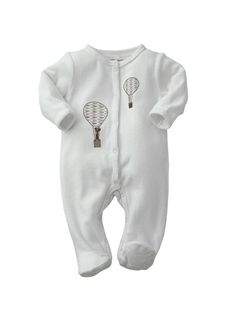 Organic Collection Newborn Baby Velvet Sleepsuit