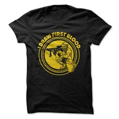 I Draw First Blood_Yellow T Shirt, Hoodie, Sweatshirt