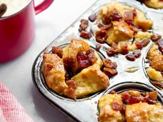 Eggnog French Toast Muffins with Candied Bacon - -You can find Toast and more on our website.Eggnog French Toast Muffins with Candied Bacon - - French Toast Muffins, Eggnog French Toast, French Toast Bake, French Toast Casserole, Toast Pizza, Cheese Toast, Toast Hawaii, Bacon Muffins, Candied Bacon