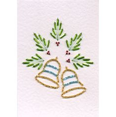 Bead Bells | Christmas patterns at Stitching Cards.