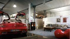 #LifeStyle #Gagare #InteriorDesing #MercedesBenz  Garage y auto perfecto para una casa con espacios abiertos