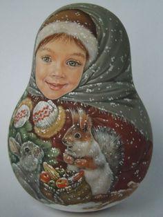 Авторская 1 вида русская Roly Poly-матрешки, как reborn Baby куклы художник usachova   Куклы и мягкие игрушки, Куклы, По типу   eBay!