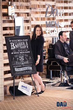 Dove Men Care Barber Shop Chalkboard Sign by artfxdesignstudios.com