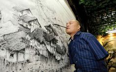 Huang Guofu is an armless painter and artist… Sweet Station, Inspirational Artwork, Illustrations, Learn To Paint, Chinese Art, Contemporary Art, Street Art, The Incredibles, Instagram