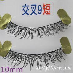 False eyelashes natural short charming turbidness handmade cross 9 short on AliExpress.com. $8.65