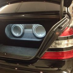 Mercedes All in a days work custom car stereo trunk install JL Audio