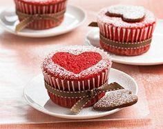 Red Velvet Valentine Cupcakes-This is a great recipe for Valentine's Day and also a Weight Watchers 5 PointsPlus+ recipe!  Makes 28 cupcakes, great for the school Valentine's Day party!