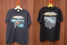 2016 Boston Concert Tour Black T-Shirt 40th Anniversary Rock Band Tour Tee Sz L…