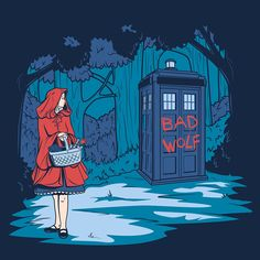 Big Bad Wolf by *khallion on deviantART ... love this series, TARDIS with Disney/fairy tale characters