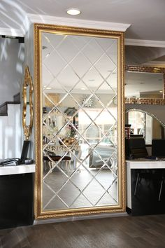 Mirrors Contemporary Living Room Customized Luxury Beveled Glass Mirror for Living Room Living Room Mirrors, Living Room Decor, Decor Interior Design, Interior Decorating, Furniture Design, Living Room Background, Home Accents, Home Decor, Modern Pergola