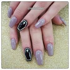 Image result for halloween nail art ALMOND SHAPE