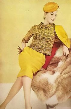 vogue 1960 love the yellow!