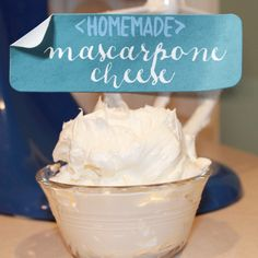 super easy and inexpensive way to make homemade mascarpone cheese! i will never buy store bought again!