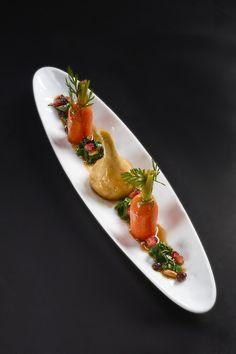 Carrots and artichokes flavoured with pomegranate molasses - Eric Briffard - Le Cinq