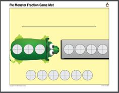Pie Monster ST Math Printable Game Mat