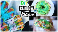 DIY Rainbow Bagels! | Buzzfeed/Pinterest Recipe TESTED!