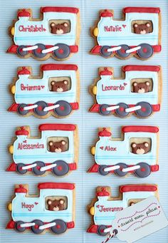 Train Cookies... by Dessert Menu, Please, via Flickr